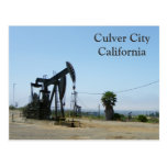 Cool Culver City/Oil Rig Postcard! Postcard