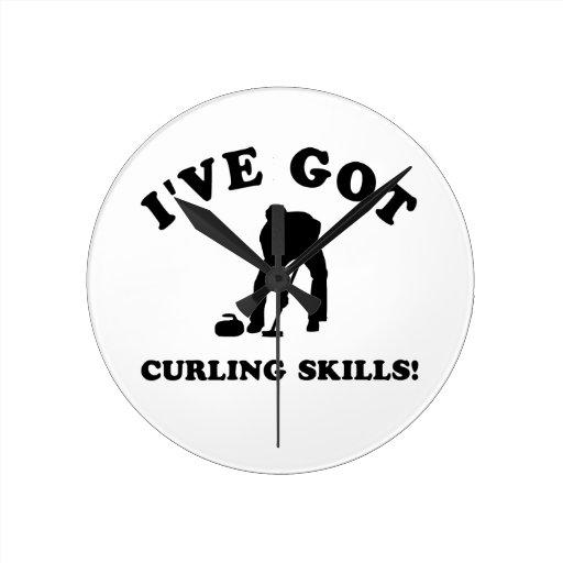 cool curling designs round clocks