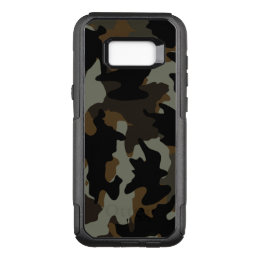 Cool Custom Color Brown Camo Camouflage Pattern OtterBox Commuter Samsung Galaxy S8+ Case