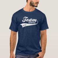 Cool Custom Family Team Name Retro Sports Logo T-Shirt