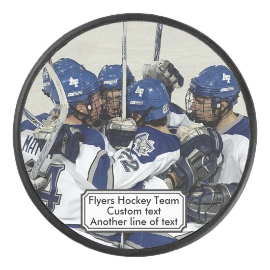 Cool Custom Hockey Puck Add Your Photo Team Name
