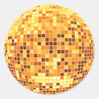 Cool Custom Retro Golden Disco Ball Designs Classic Round Sticker