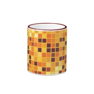 Cool Custom Retro Golden Disco Ball Designs Ringer Coffee Mug