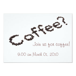 Cool Customizable Coffee Invitations