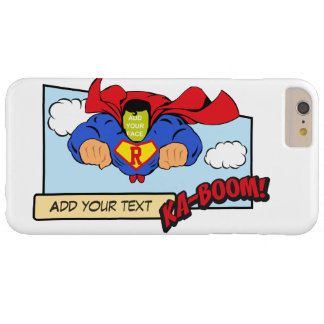 Cool customizable red caped flying comic hero… C Barely There iPhone 6 Plus Case