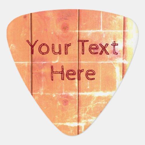 Cool Customizable Rustic Wood Design Guitar Pick