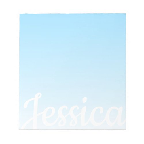Cool Customizable Sky Blue Ombre  Your Script Notepad