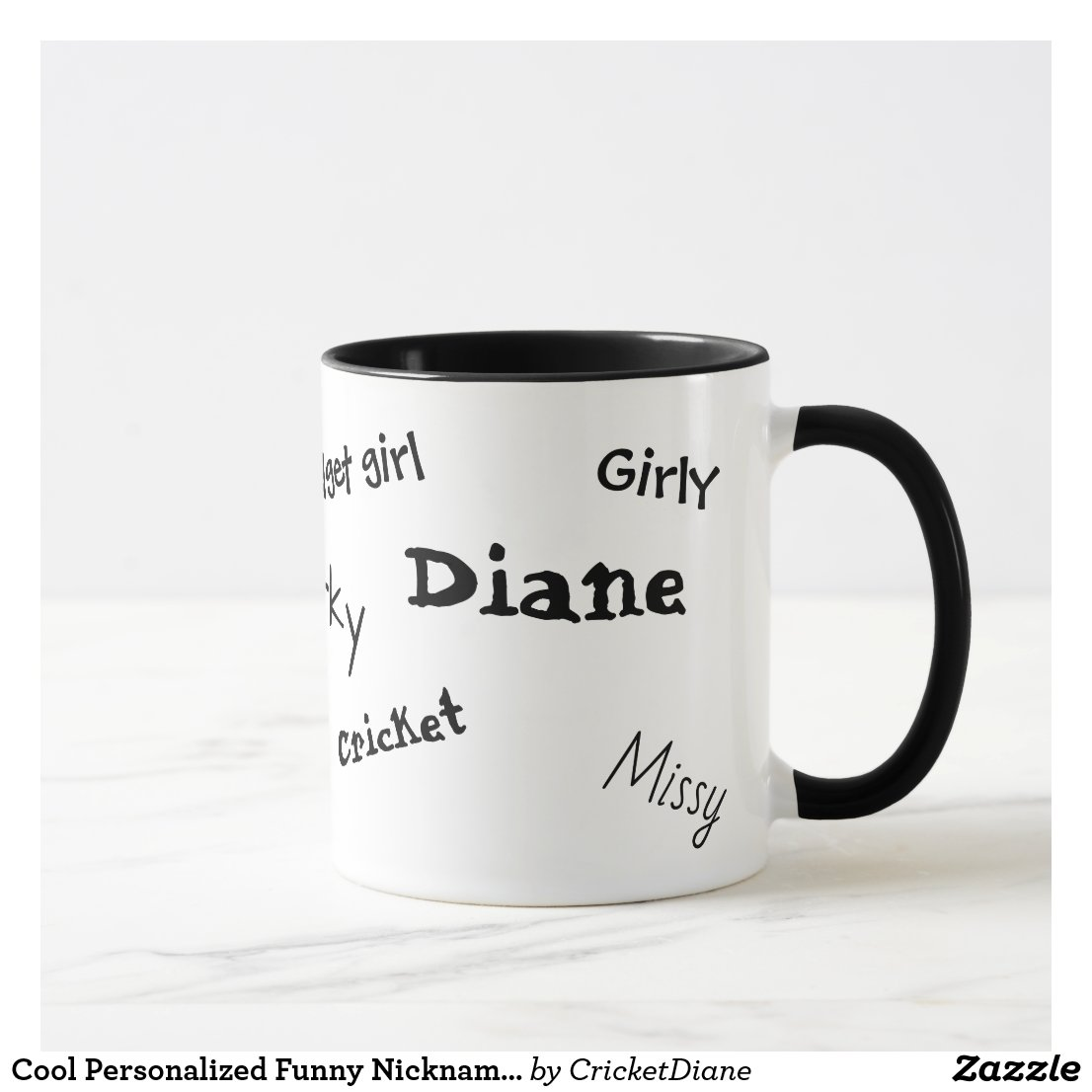 Cool Customized Funny Nicknames Coffee Mug
