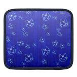 Cool cute abstract kitty indigo blue  sleeve iPad sleeves