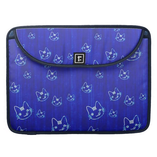Cool cute abstract kitty indigo blue  sleeve MacBook pro sleeves