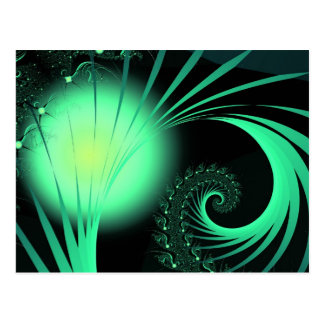 """Cool Cute Abstract Pattern """"Green Orb"""" Postcard"""