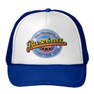 Cool Cute Angry Red Jellyfish Baseball Logo Trucker Hat
