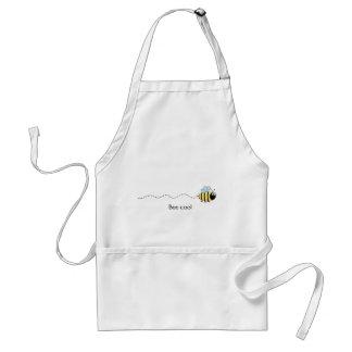 Cool cute bee cartoon apron