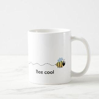 Cool cute bee cartoon mug
