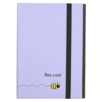 Cool cute bee cartoon pun purple iPad air case