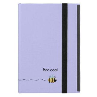 Cool cute bee cartoon pun purple iPad mini cases