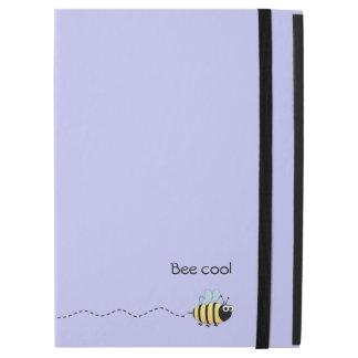 "Cool cute bee cartoon pun purple iPad pro 12.9"" case"