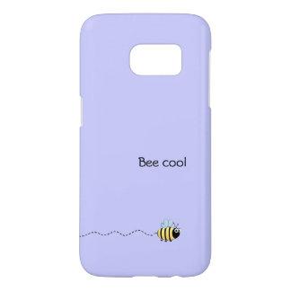 Cool cute bee cartoon pun purple samsung galaxy s7 case