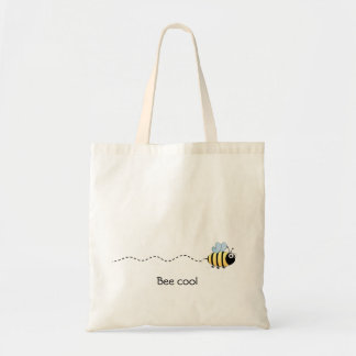 Cool cute bee cartoon tote