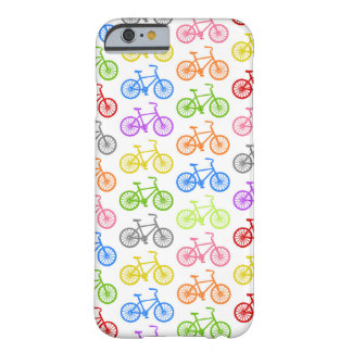 Cool cute bicycle pattern colourful seamless bikes barely there iPhone 6 case