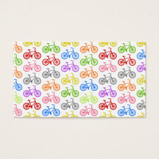 Cool cute bicycle pattern colourful seamless business card