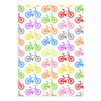 Cool cute bicycle pattern colourful seamless invite