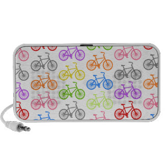 Cool cute bicycle pattern colourful seamless iPod speakers