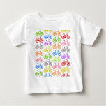 Cool cute bicycle pattern colourful seamless tee shirt
