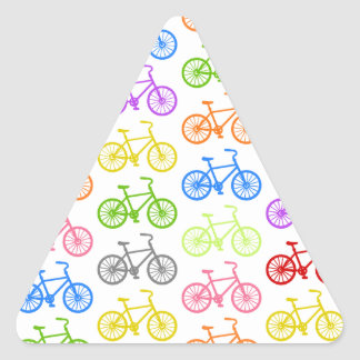 Cool cute bicycle pattern colourful seamless triangle sticker