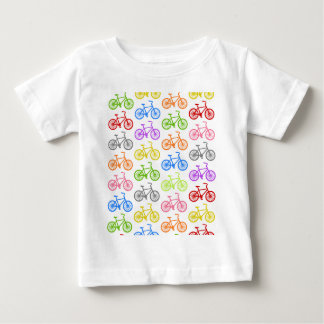 Cool cute bicycle pattern colourful seamless t shirt