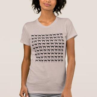 cool cute black cat pattern shirt