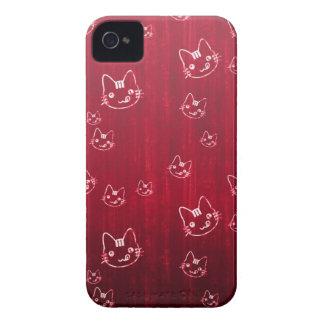 Cool cute cat kitty neko japanese cherry red iPhone 4 cases