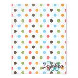 Cool cute colourful trendy monogram polka dots card
