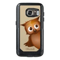 Cool Cute Custom Name Funny Cartoon Owl Monogram OtterBox Samsung Galaxy S7 Case