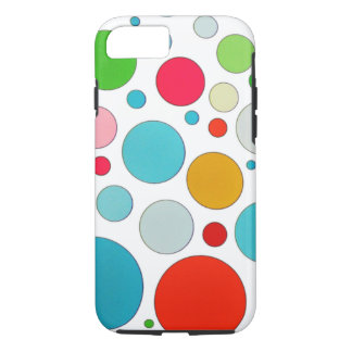 Cool cute different size bubbles and polka dots iPhone 7 case