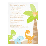 Cool cute dinosaur boy's birthday party invitation