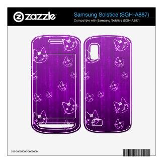 Cool cute girly cat kitty neko japanese purple samsung solstice skin