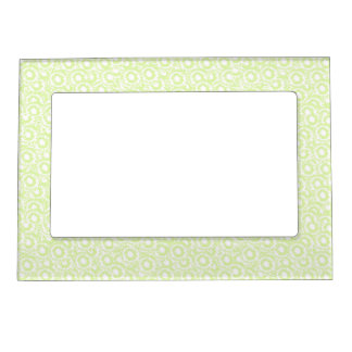 Cool cute girly swirls pale green white SWIRLS04 Picture Frame Magnet