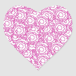 Cool cute girly swirls pink and white SWIRLS09 Heart Sticker