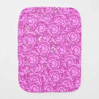 Cool cute girly swirls vibrant pink SWIRLS11 Baby Burp Cloth