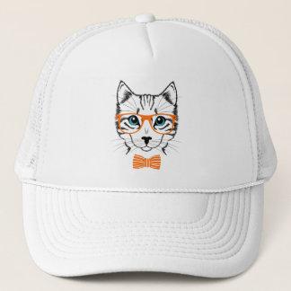 Cool Cute Hipster Cat Trucker Hat