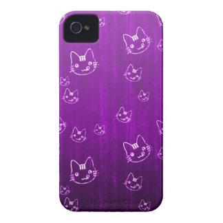 Cool cute japanese green kitty cat neko pattern iPhone 4 Case-Mate cases