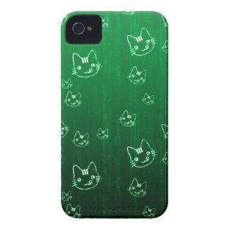 Cool cute japanese green kitty cat neko pattern iPhone 4 covers