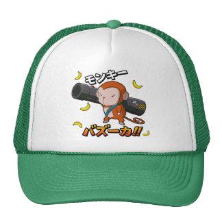 Cool Cute Monkey with Bazooka and Bananas Trucker Hat