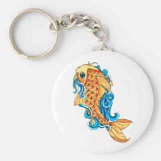 Cool Cute Oriental Japanese  Gold Koi Carp Fish Keychains