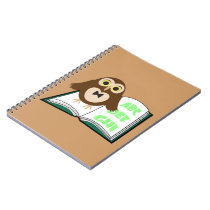 Cool Cute owl with Alphabet book Back to school