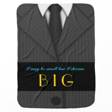 Professional Business Cool Cute Pinstripe Suit and Tie Baby Boy Blanket