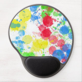 Cool cute  trendy colourful splatters watercolours gel mouse pads
