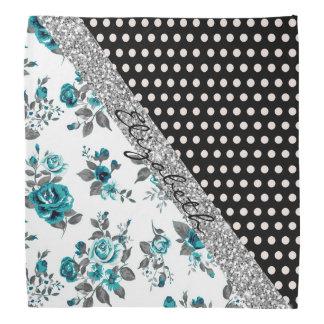 Cool cute trendy vintage roses floral polka dots bandana