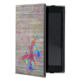 Cool cute vibrant watercolours vintage butterfly iPad mini case